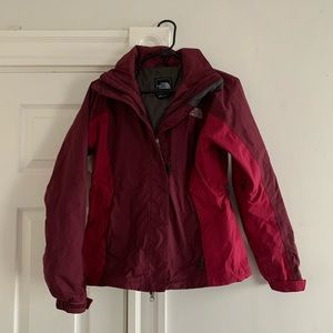 The North Face Red waterproof softshell Jacket S
